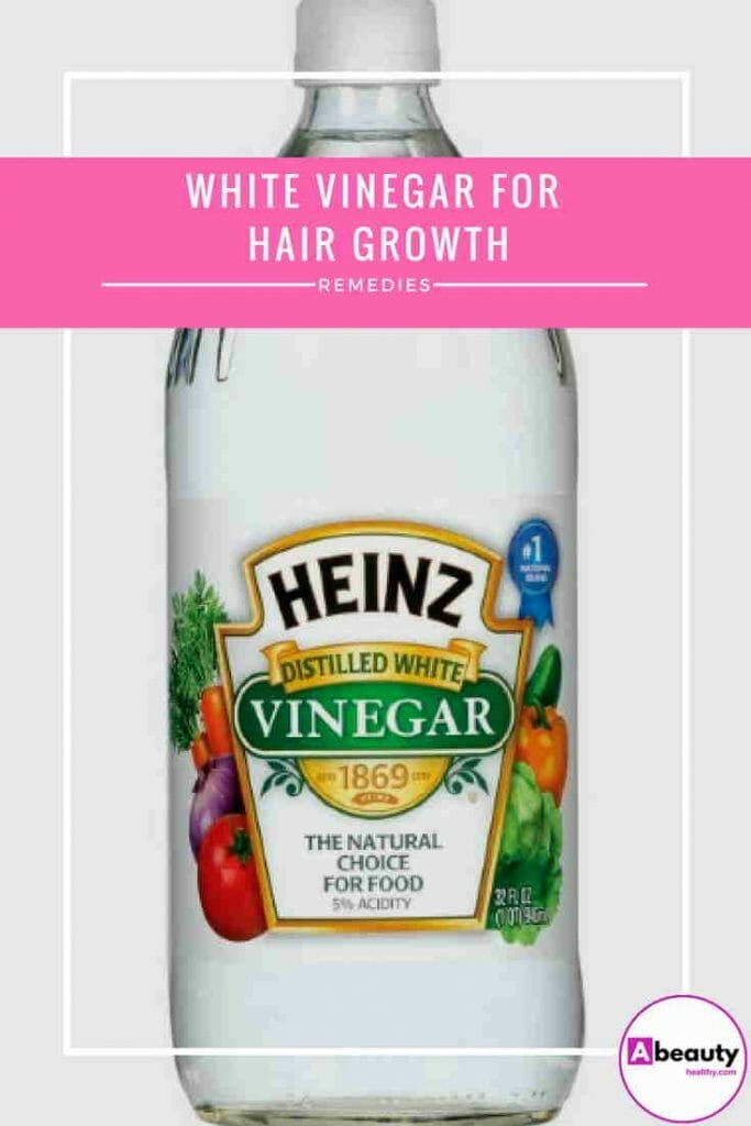 white vinegar for hair growth
