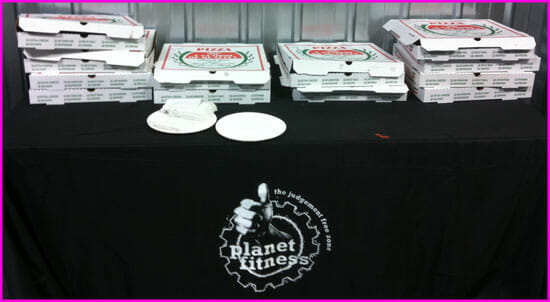 Pizza Monday planet fitness