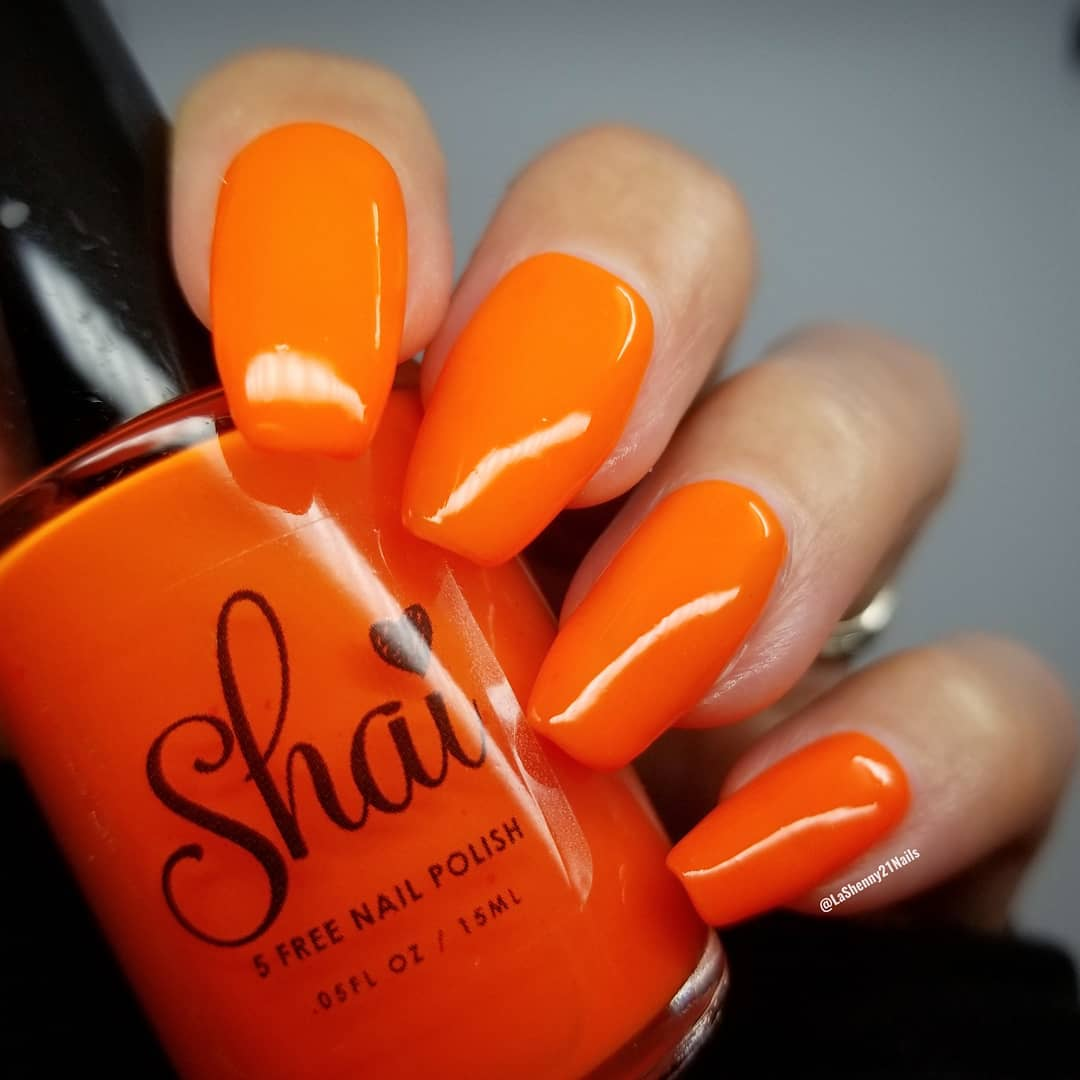 deep orange shade design