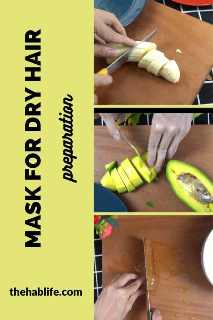 How to make avocado & banana mask for hair? (1)