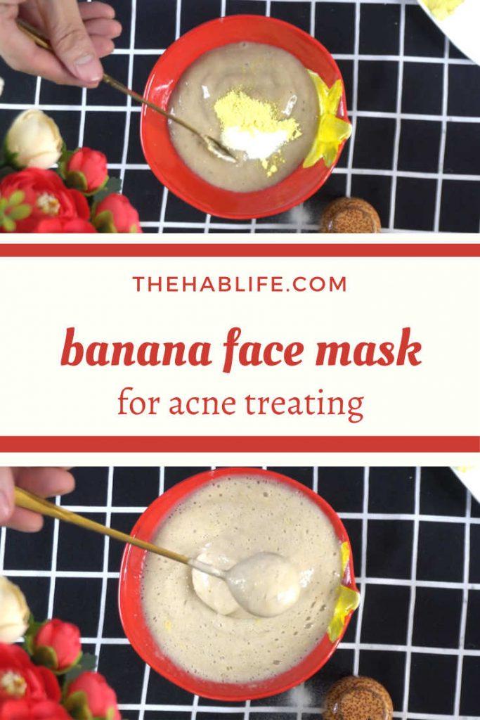 banana mask with turmeric & baking soda