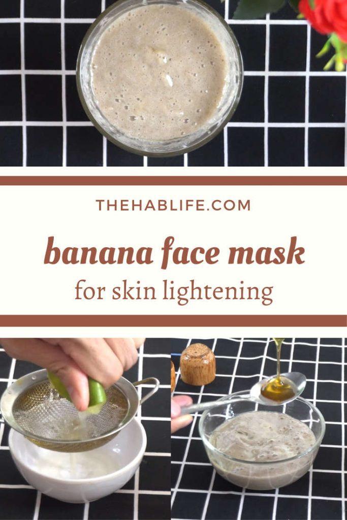 banana mask with lemon & honey