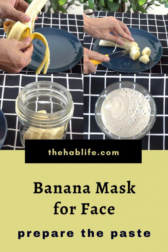 prepare the banana paste