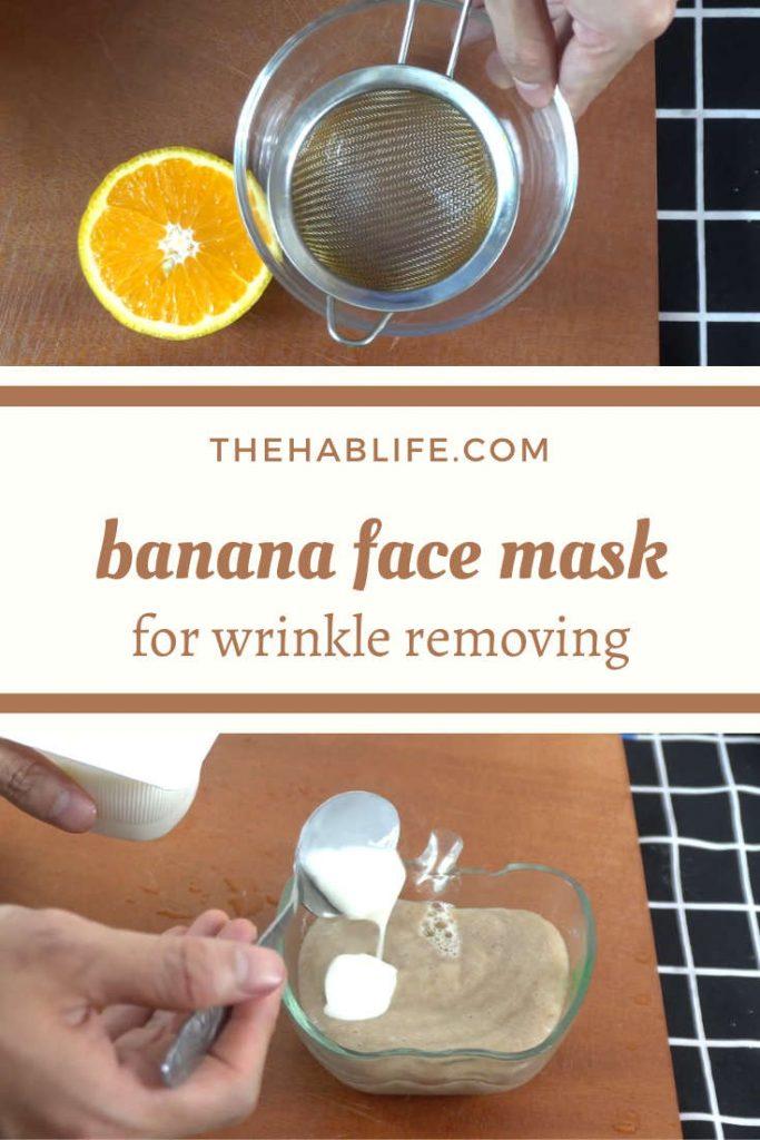banana mask with orange & yogurt