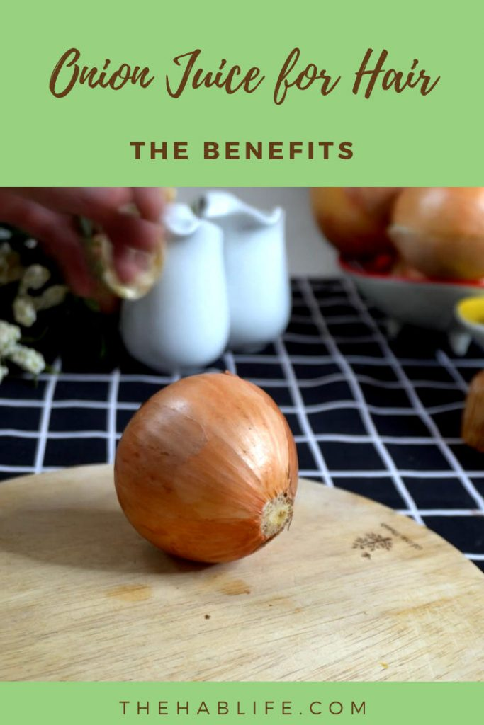 Why should we use onion juice for hair growth?