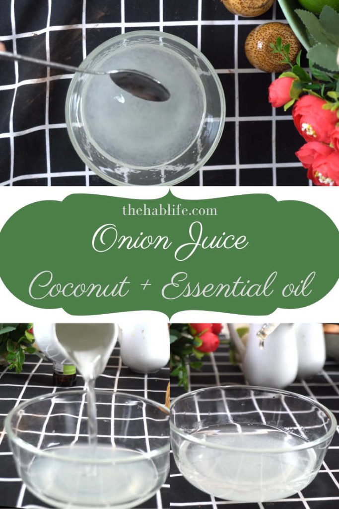 onion juice & coconut oil for hair loss