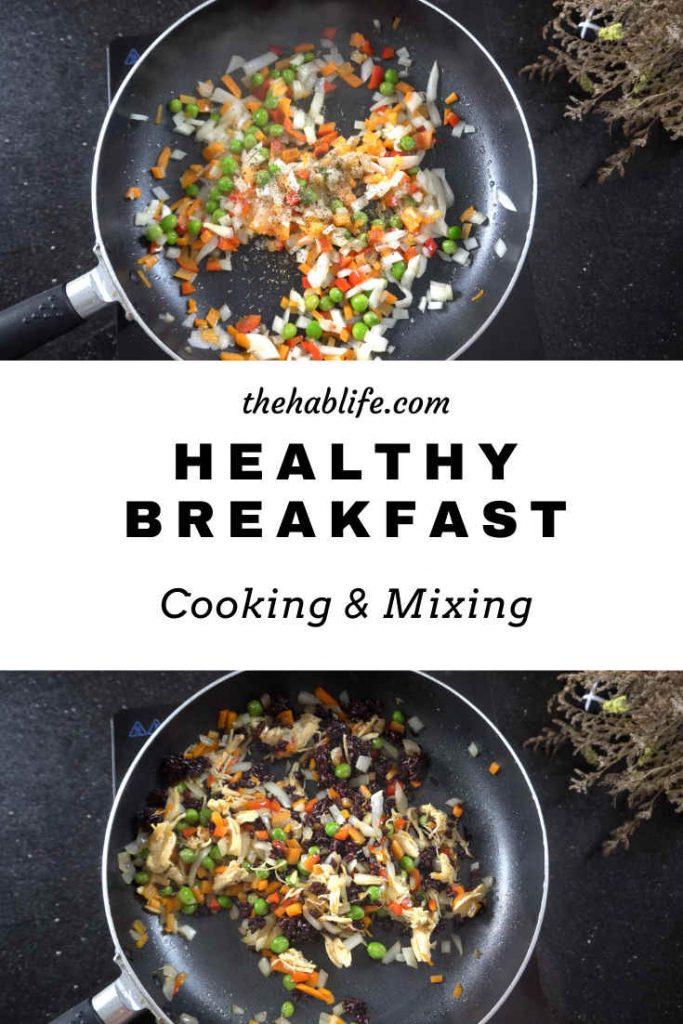 healthy breakfast - cook & mix