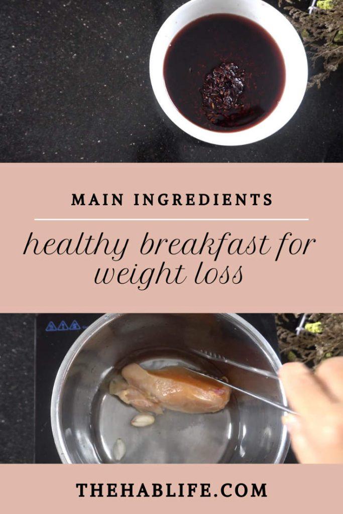 main ingredients - black rice & chicken breast