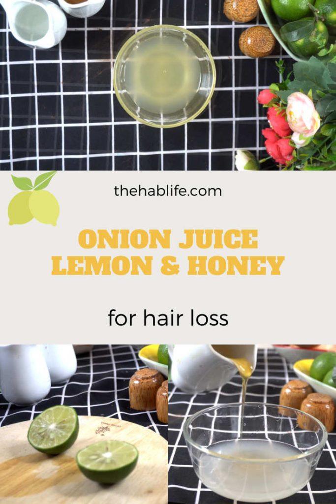 Onion juice with lemon & honey for hair
