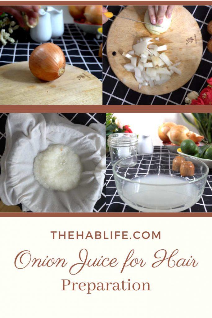 Steps to prepare onion juice