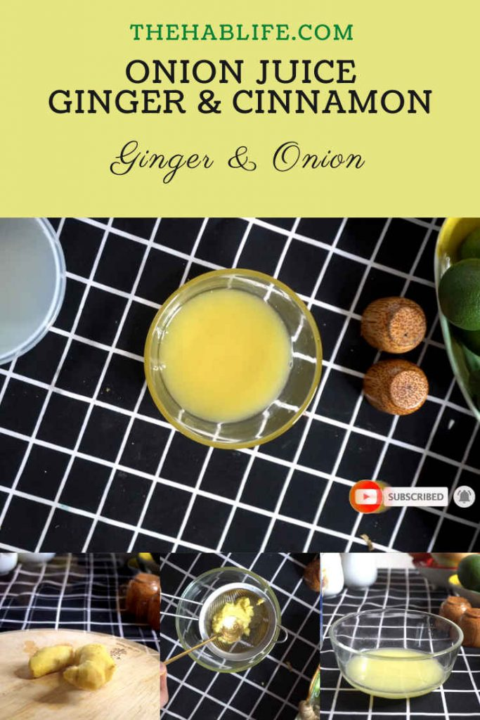 onion juice with ginger and cinnamon (1)