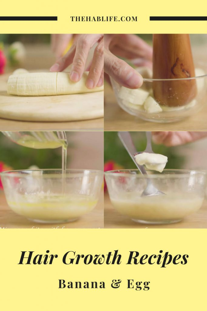 banana and egg for hair growth - how-to-make