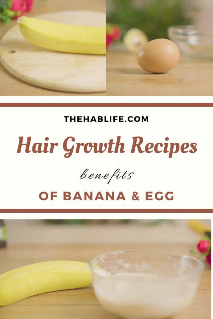 benefits of banana & egg for hair growth