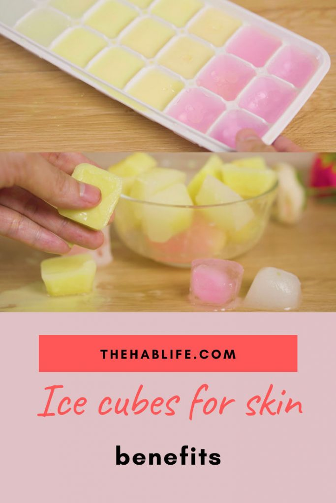 Why should we use ice cubes for skincare?