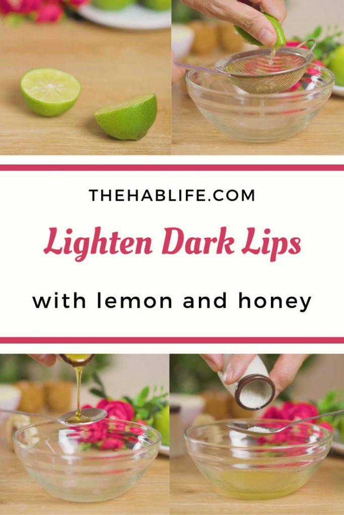 how to use lemon for dark lips?