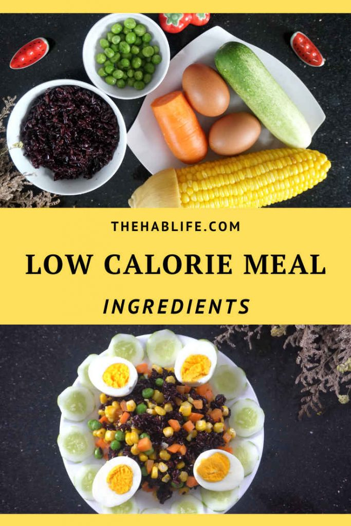 ingredients for low calorie meal