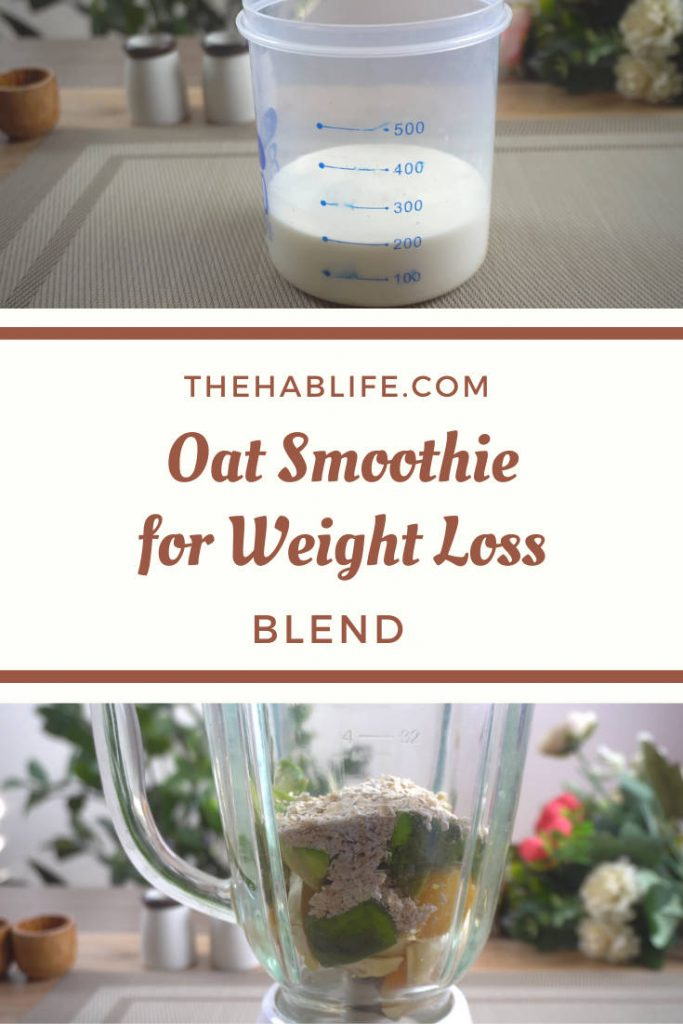 oat smoothie for weight loss - blend