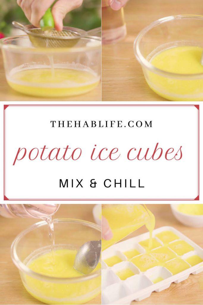 potato ice cubes for skin