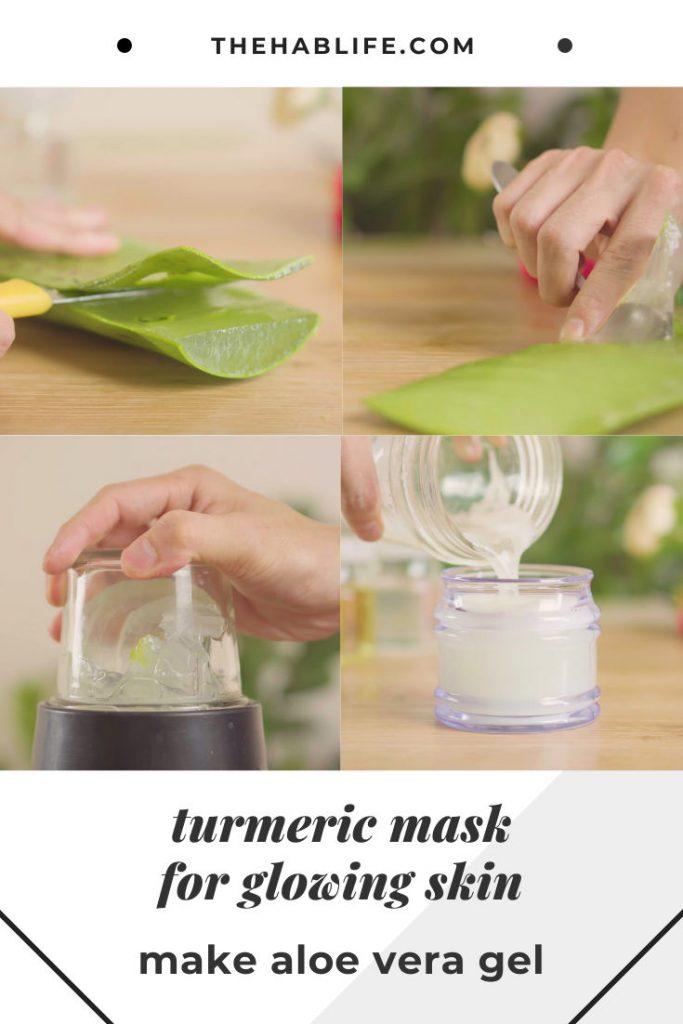 make the aloe vera gel