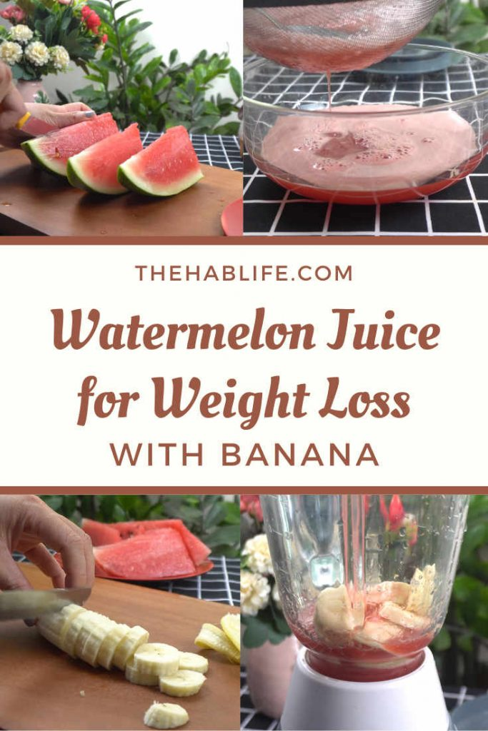 Watermelon juice with banana for weight loss