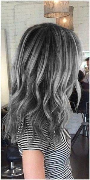 Charcoal Gray Hair Color Trending