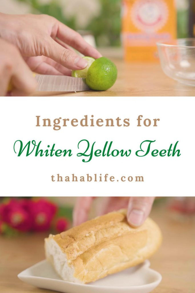 ingredients to whiten yellow teeth