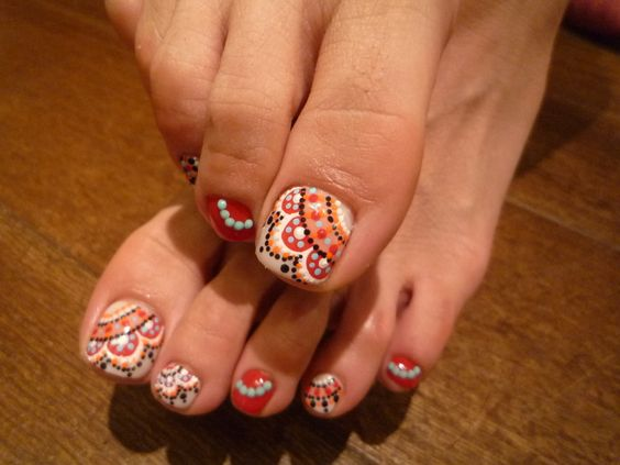 toe nails design