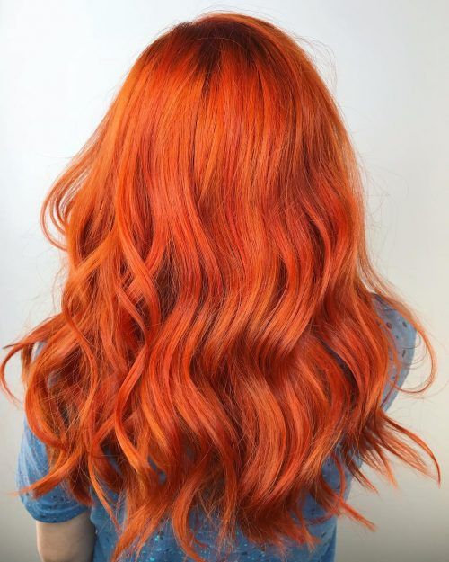 Neon Red Hair Color Trending
