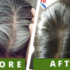 Treat Gray Hair Naturally At Home With 4 Ingredients!