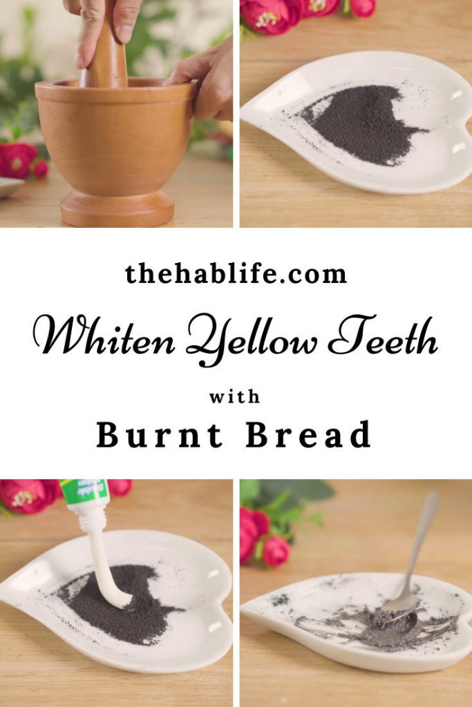 whiten teeth with burnt bread