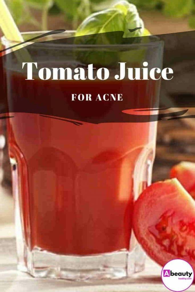 Tomato Juice For Acne