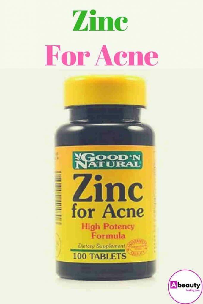 Zinc For Acne Treatment