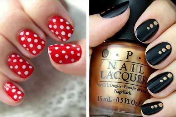 Red Polka Dot Nails