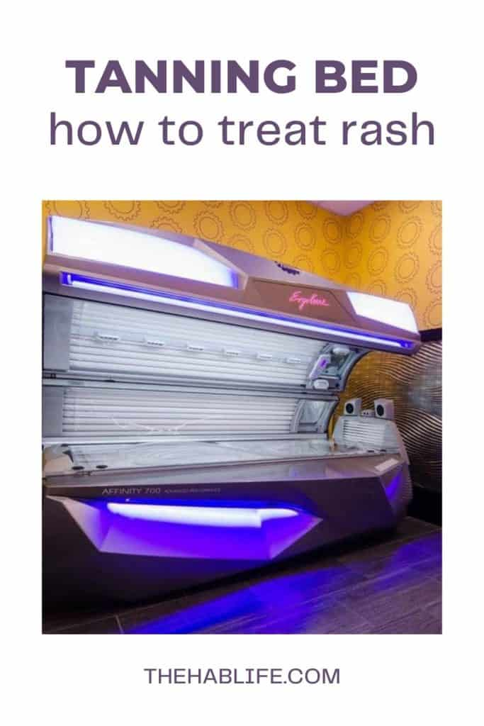 How to treat Tanning Bed Rash